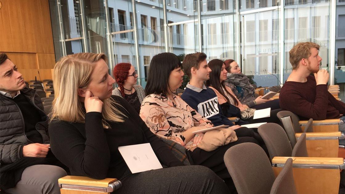Bundespressekonferenz – KM-Studierende in der erstenReihe